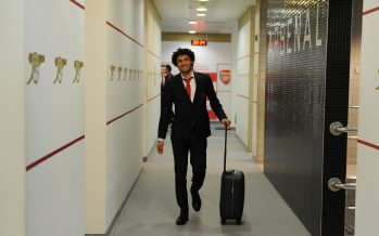 LONDON, ENGLAND - JANUARY 30:  Arsenal's Mohamed Elneny in the home changing room before the The Emirates FA Cup Fourth Round match between Arsenal and Burnley at Emirates Stadium on January 30, 2016 in London, England.  (Photo by Stuart MacFarlane/Arsenal FC via Getty Images) *** Local Caption *** Mohamed Elneny