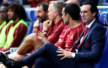 CARDIFF, WALES - SEPTEMBER 02:  Unai Emery, Manager of Arsenal looks on prior to the Premier League match between Cardiff City and Arsenal FC at Cardiff City Stadium on September 2, 2018 in Cardiff, United Kingdom.  (Photo by Clive Rose/Getty Images)