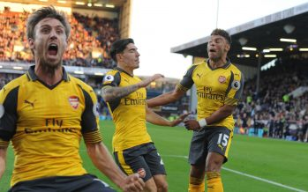 BURNLEY, ENGLAND - OCTOBER 02: of Arsenal during the Premier League match between Burnley and Arsenal at Turf Moor on October 2, 2016 in Burnley, England. (Photo by Stuart MacFarlane/Arsenal FC via Getty Images)