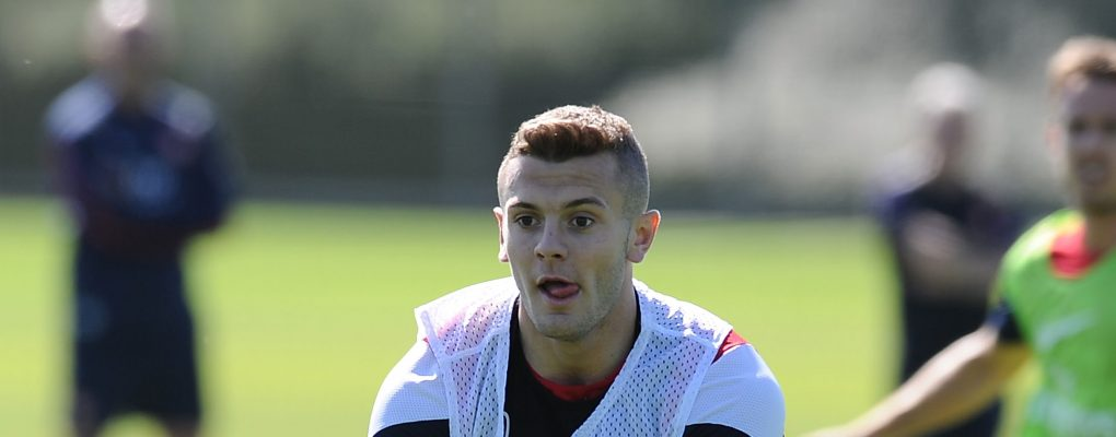 ST ALBANS, ENGLAND - AUGUST 31:  Jack Wilshere of Arsenal during a training session at London Colney on August 31, 2013 in St Albans, England.  (Photo by Stuart MacFarlane/Arsenal FC via Getty Images) *** Local Caption *** Jack Wilshere