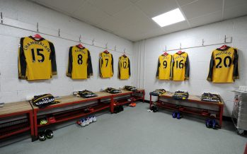 BOURNEMOUTH, ENGLAND - JANUARY 03:  The Arsenal changing room before the Premier League match between AFC Bournemouth and Arsenal at Vitality Stadium on January 3, 2017 in Bournemouth, England.  (Photo by Stuart MacFarlane/Arsenal FC via Getty Images)