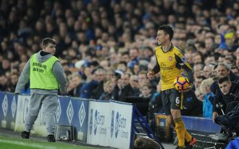 LIVERPOOL, ENGLAND - DECEMBER 13:  Laurent Koscileny of Arsenal during the Premier League match between Everton and Arsenal at Goodison Park on December 13, 2016 in Liverpool, England.  (Photo by Stuart MacFarlane/Arsenal FC via Getty Images) *** Local Caption *** Laurent Koscielny