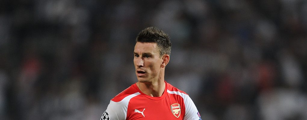 ISTANBUL, TURKEY - AUGUST 19:  Laurent Koscielny of Arsenal during the UEFA Champions League play off match between Besiktas and Arsenal on August 19, 2014 in Istanbul, Turkey.  (Photo by Stuart MacFarlane/Arsenal FC via Getty Images) *** Local Caption *** Laurent Koscielny