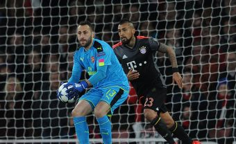 LONDON, ENGLAND - MARCH 07:  David Ospina of Arsenal during the UEFA Champions League Round of 16 second leg match between Arsenal FC and FC Bayern Muenchen at Emirates Stadium on March 7, 2017 in London, United Kingdom.  (Photo by David Price/Arsenal FC via Getty Images) *** Local Caption *** David Opsina