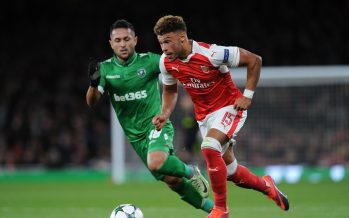 LONDON, ENGLAND - OCTOBER 19:  Alex Oxlade-Chamberlain of Arsenal takes on Wanderson of Ludogorets during the UEFA Champions League match between Arsenal FC and PFC Ludogorets Razgrad at Emirates Stadium on October 19, 2016 in London, England.  (Photo by David Price/Arsenal FC via Getty Images) *** Local Caption *** Alex Oxlade-Chamberlain; Wanderson