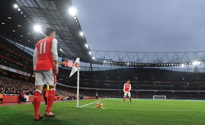 LONDON, ENGLAND - DECEMBER 10:  Mesut Ozil of Arsenal during the Premier League match between Arsenal and Stoke City at Emirates Stadium on December 10, 2016 in London, England.  (Photo by Stuart MacFarlane/Arsenal FC via Getty Images) *** Local Caption *** Mesut Ozil;Oezil