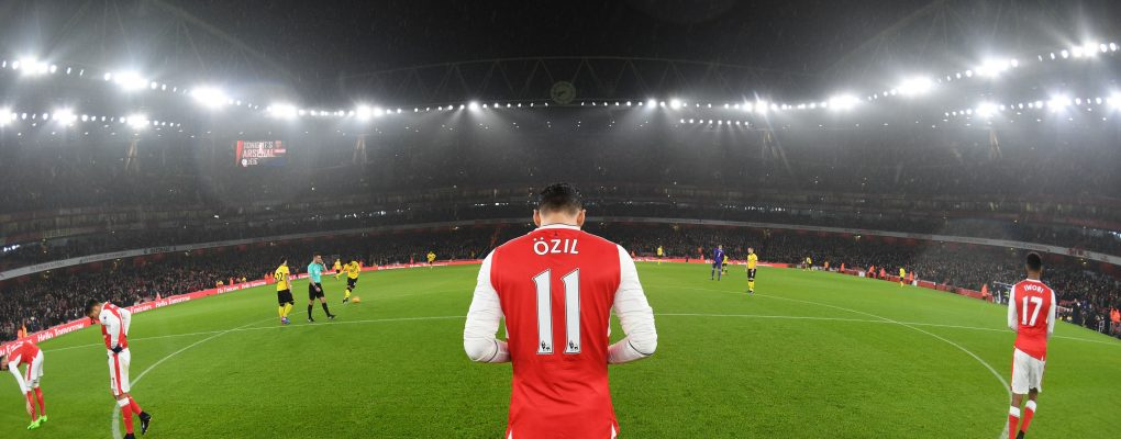LONDON, ENGLAND - JANUARY 31: Mesut Ozil of Arsenal before the Premier League match between Arsenal and Watford at Emirates Stadium on January 31, 2017 in London, England. (Photo by Stuart MacFarlane/Arsenal FC via Getty Images) *** Local Caption *** Mesut Ozil;Oezil