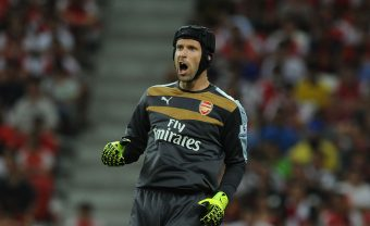 KALLANG, SINGAPORE - JULY 18:  Petr Cech of Arsenal during the Barclays Asia Trophy match between Arsenal and Everton at the Singapore National Stadium on July 18, 2015 in Kallang.  (Photo by Stuart MacFarlane/Arsenal FC via Getty Images) *** Local Caption *** Petr Cech