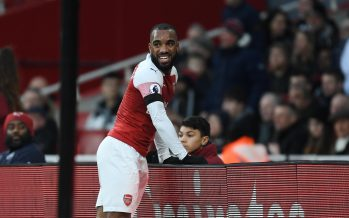 LONDON, ENGLAND - JANUARY 01: Alex Lacazette of Arsenal during the Premier League match between Arsenal FC and Fulham FC at Emirates Stadium on January 01, 2019 in London, United Kingdom. (Photo by Stuart MacFarlane/Arsenal FC via Getty Images)