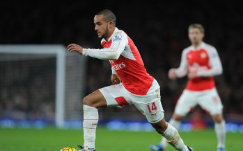 LONDON, ENGLAND - DECEMBER 21:  Theo Walcott of Arsenal during the Barclays Premier League match between Arsenal and Manchester City at Emirates Stadium on December 21, 2015 in London, England.  (Photo by David Price/Arsenal FC via Getty Images) *** Local Caption *** Theo Walcott