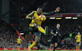 LIVERPOOL, ENGLAND - MARCH 04:  Danny Welbeck of Arsenal during the Premier League match between Liverpool and Arsenal at Anfield on March 4, 2017 in Liverpool, England.  (Photo by David Price/Arsenal FC via Getty Images) *** Local Caption *** Danny Welbeck
