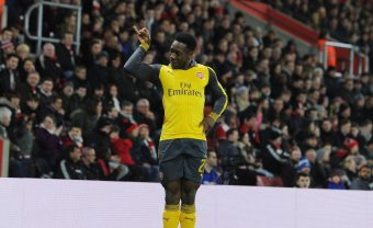 SOUTHAMPTON, ENGLAND - JANUARY 28:  Danny Welbeck celebrates scoring the 1st Arsenal goal during the Emirates FA Cup Fourth Round match between Southampton and Arsenal at St Mary's Stadium on January 28, 2017 in Southampton, England.  (Photo by Stuart MacFarlane/Arsenal FC via Getty Images) *** Local Caption *** Danny Welbeck