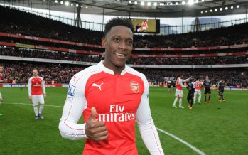 LONDON, ENGLAND - FEBRUARY 14:  Arsenal goalscorer Danny Welbeck after the Barclays Premier League match between Arsenal and Leicester City at Emirates Stadium on February 14, 2016 in London, England.  (Photo by Stuart MacFarlane/Arsenal FC via Getty Images) *** Local Caption *** Danny Welbeck