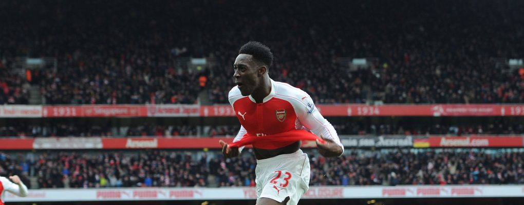 LONDON, ENGLAND - FEBRUARY 14:  Danny Welbeck celebrates scoring Arsenal's 2nd goal during the Barclays Premier League match between Arsenal and Leicester City at Emirates Stadium on February 14th, 2016 in London, England  (Photo by David Price/Arsenal FC via Getty Images) *** Local Caption *** Danny Welbeck