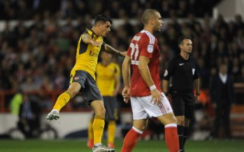 NOTTINGHAM, ENGLAND - SEPTEMBER 20:  Granit Xhaka scores a goal for Arsenal during the match between Nottingham Forest and Arsenal at City Ground on September 20, 2016 in Nottingham, England.  (Photo by David Price/Arsenal FC via Getty Images) *** Local Caption *** Granit Xhaka